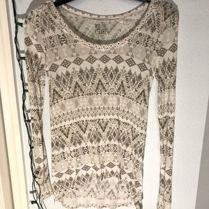 Pacsun long sleeve tribal shirt